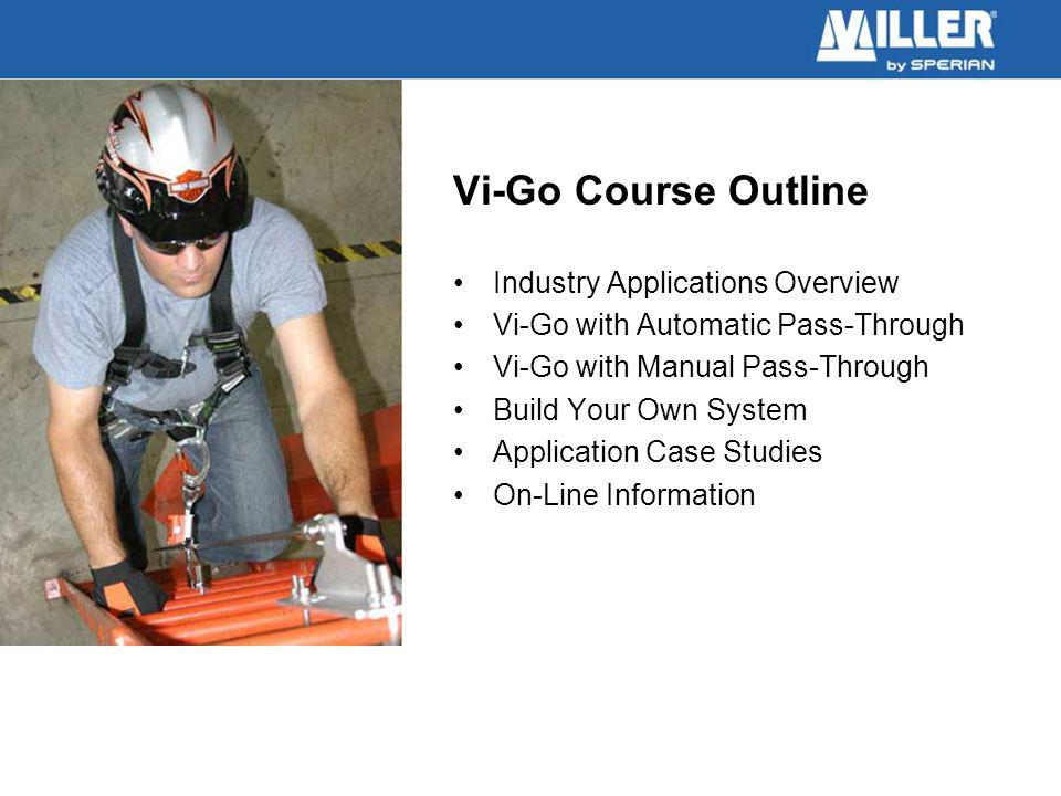 Vi-Go Course Outline Industry Applications Overview Vi-Go with Automatic Pass-Through Vi-Go with Manual Pass-Through Build Your Own System Application