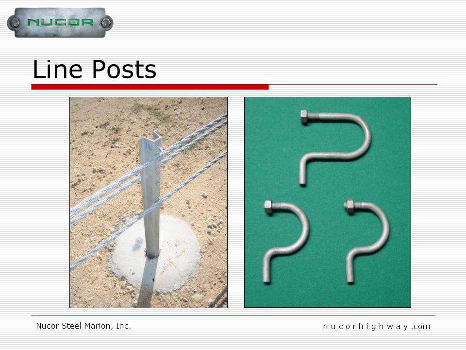 n u c o r h i g h w a y.com Nucor Steel Marion, Inc. Line Posts