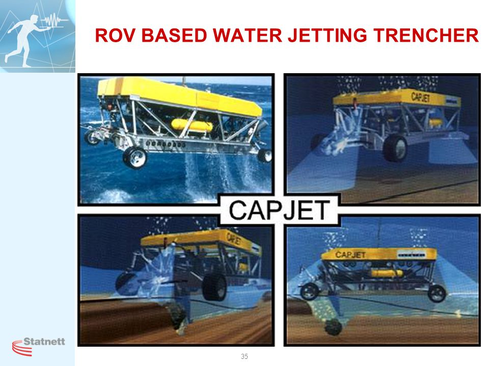 35 ROV BASED WATER JETTING TRENCHER