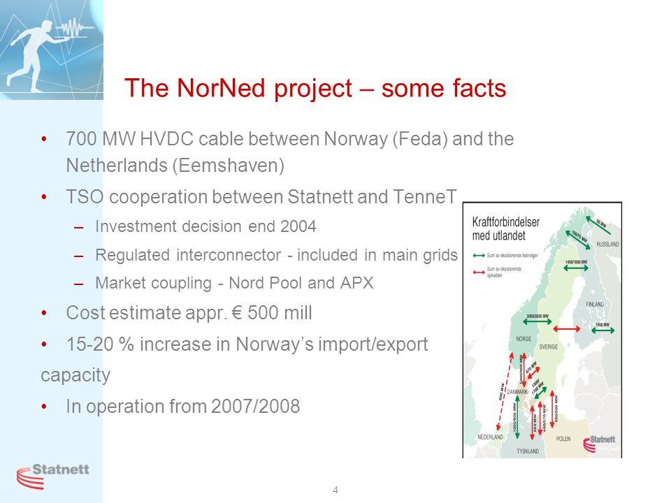 5 Scope is to build and install 580 km submarine cable and two converter installations Feda Eemshaven Strømretter N Strømretter NL Sjøkabel 580 km Submarine cable Converter