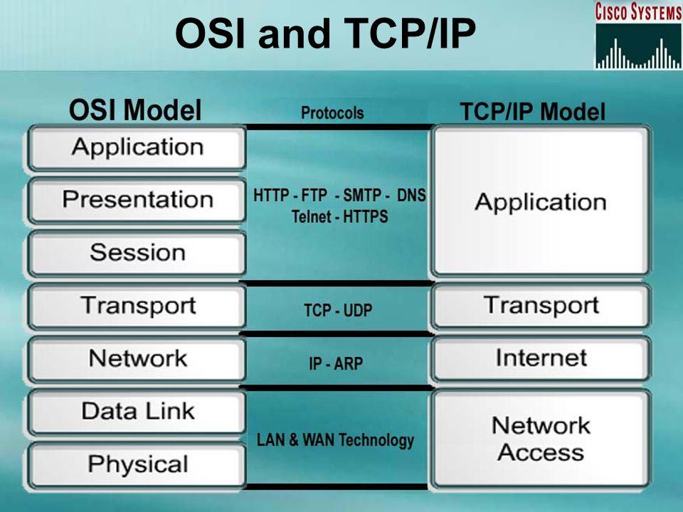 OSI and TCP/IP
