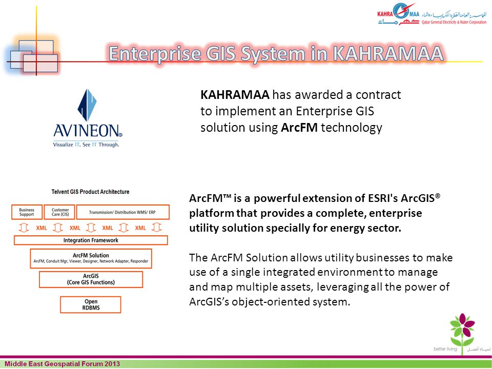 ArcFM is a powerful extension of ESRI's ArcGIS® platform that provides a complete, enterprise utility solution specially for energy sector. The ArcFM