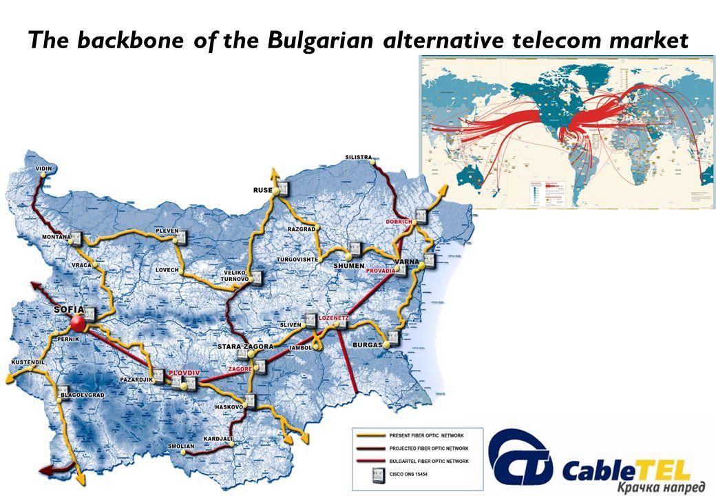 The backbone of the Bulgarian alternative telecom market