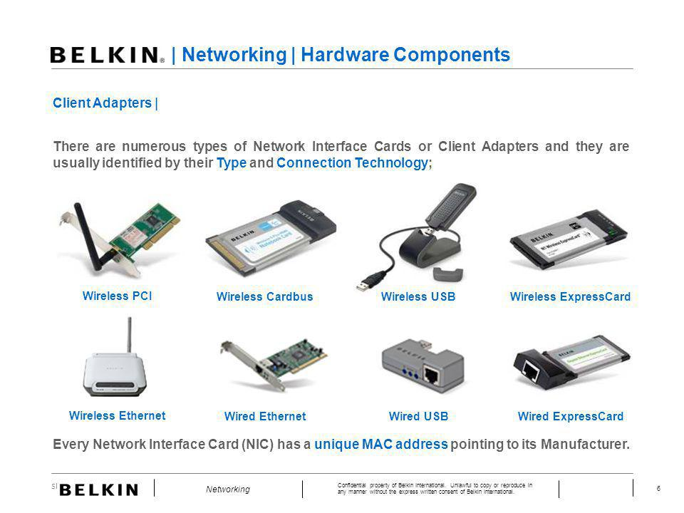 Slide Number 6 Confidential property of Belkin International. Unlawful to copy or reproduce in any manner without the express written consent of Belki