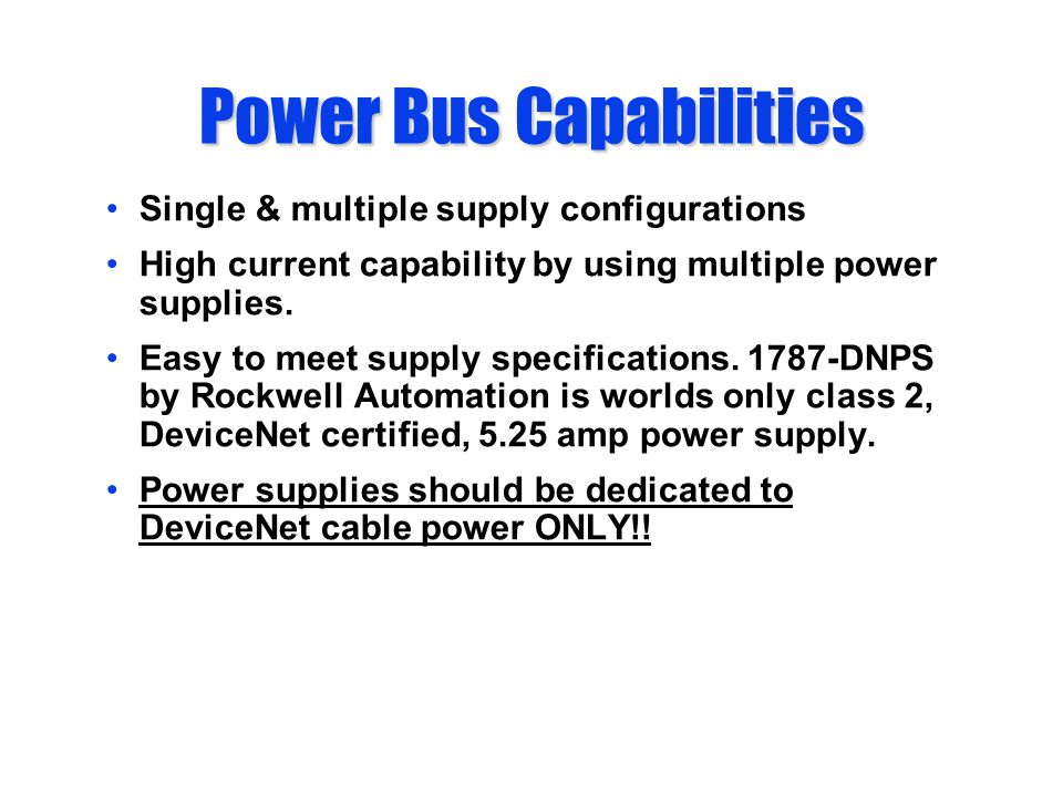 Single & multiple supply configurations High current capability by using multiple power supplies.