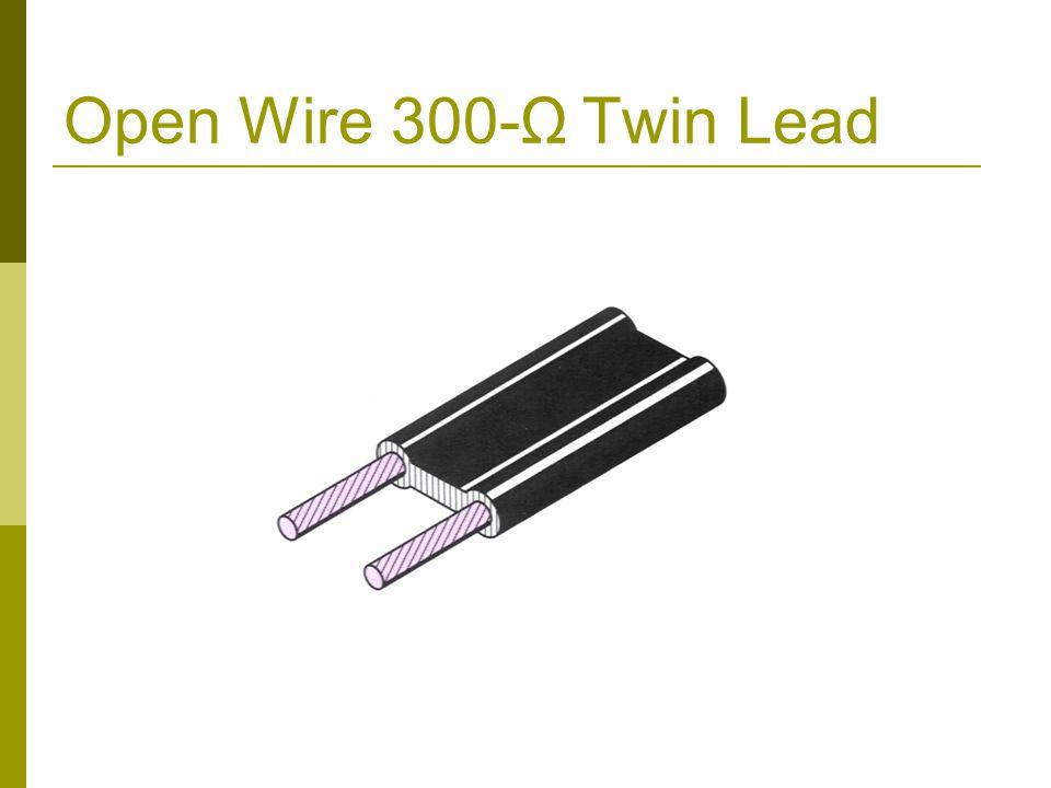 Open Wire 300-Ω Twin Lead