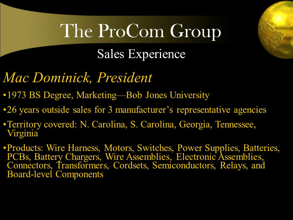 The ProCom Group Excellence does not evolve by accident.