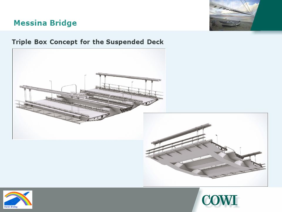 Messina Bridge Triple Box Concept for the Suspended Deck