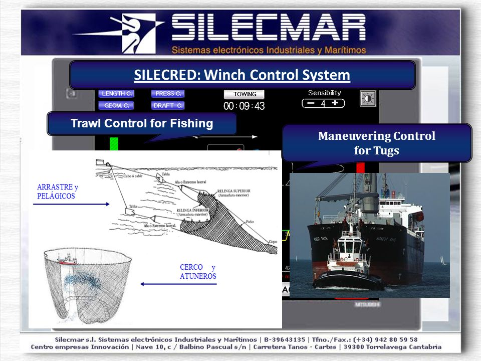 Trawl Control for Fishing Maneuvering Control for Tugs SILECRED: Winch Control System