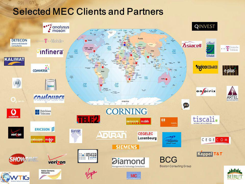 Selected MEC Clients and Partners BCG Boston Consulting Group