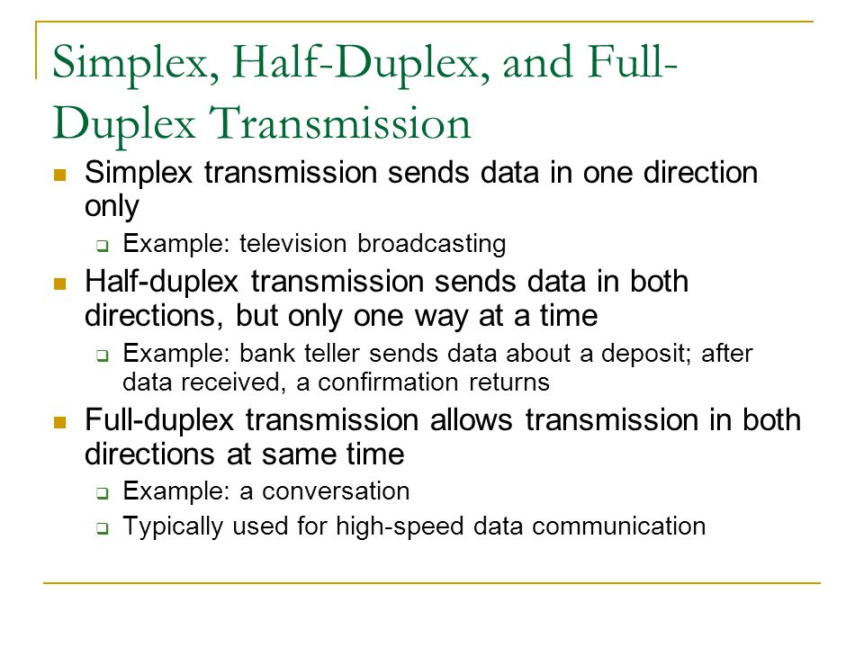 Synchronous Transmission Large block of characters transmitted Internal clocks of devices synchronized Error-check bits make sure all characters recei