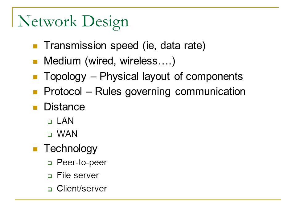 LAN Protocols: Token Ring Uses ring topology Token (electrical signal) controls which node can send messages Token circulates among nodes A computer w