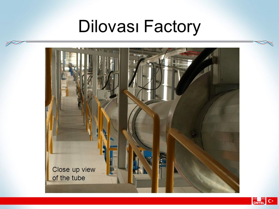 Dilovası Factory Close up view of the tube