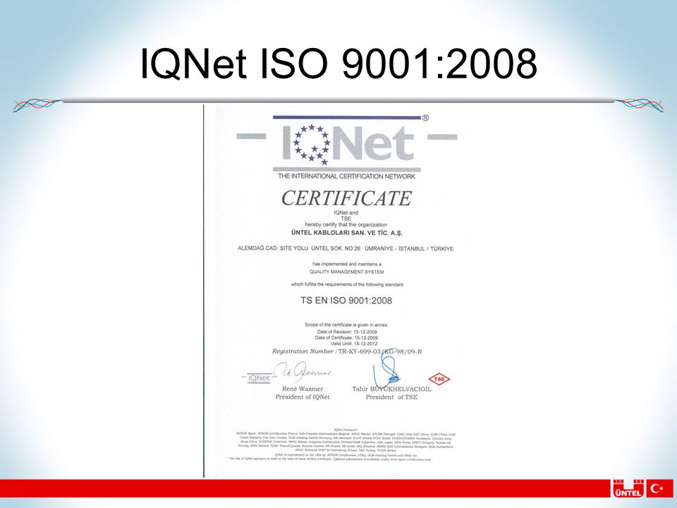 IQNet ISO 9001:2008