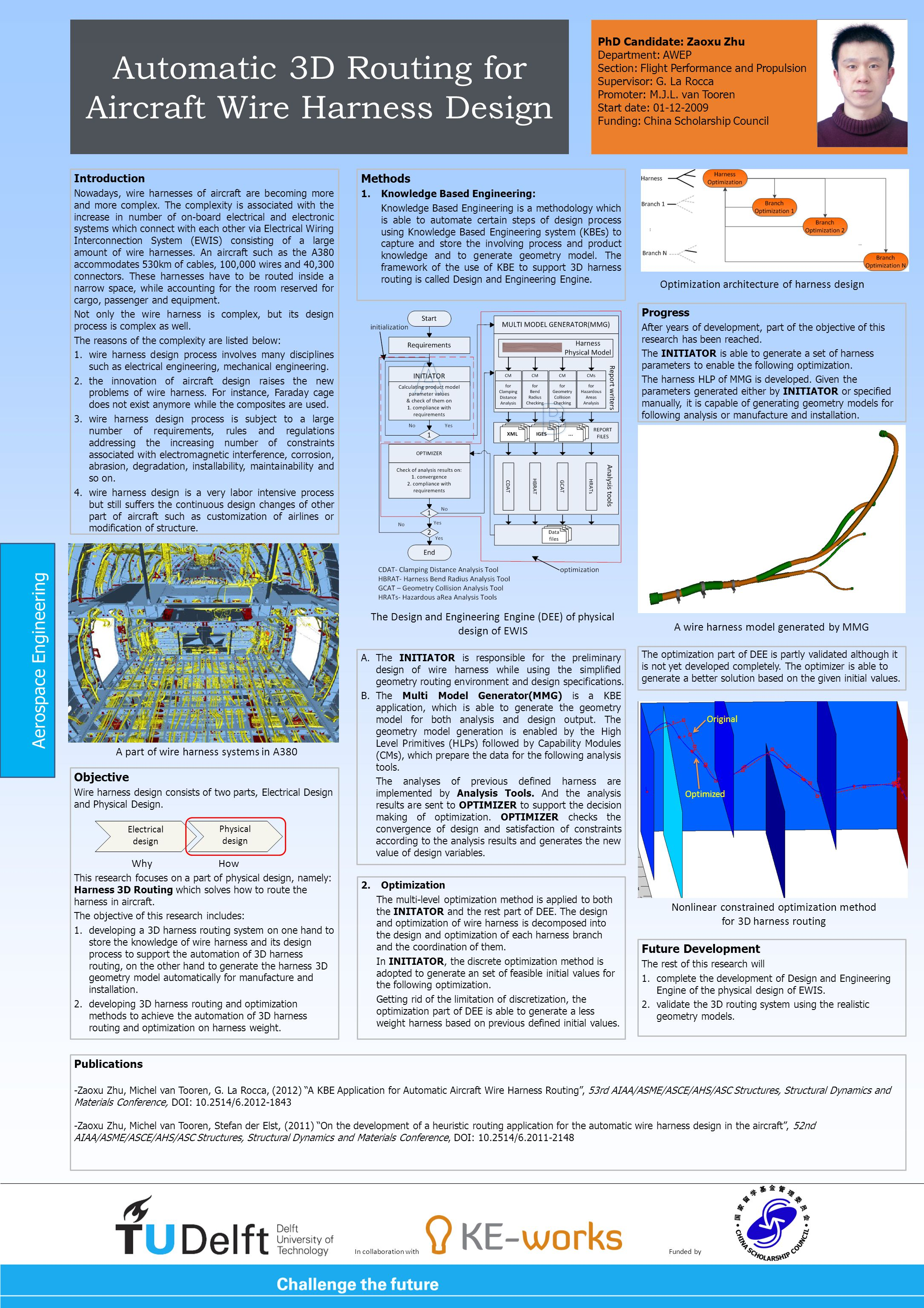 Automatic 3D Routing for Aircraft Wire Harness Design Introduction Nowadays, wire harnesses of aircraft are becoming more and more complex. The comple