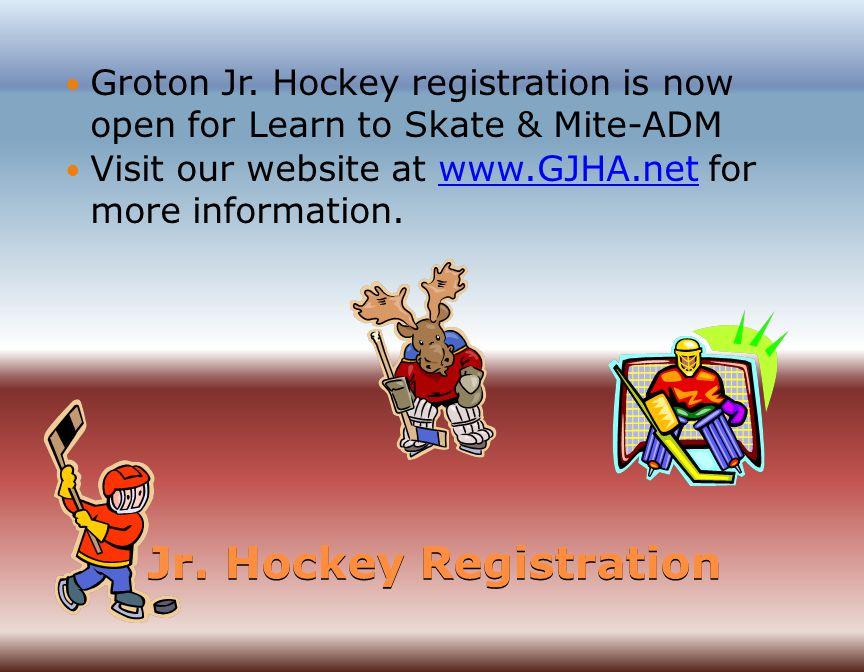 Jr. Hockey Registration Groton Jr.