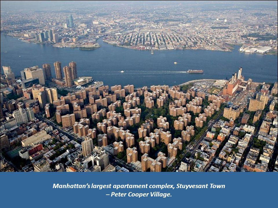 Manhattans largest apartament complex, Stuyvesant Town – Peter Cooper Village.