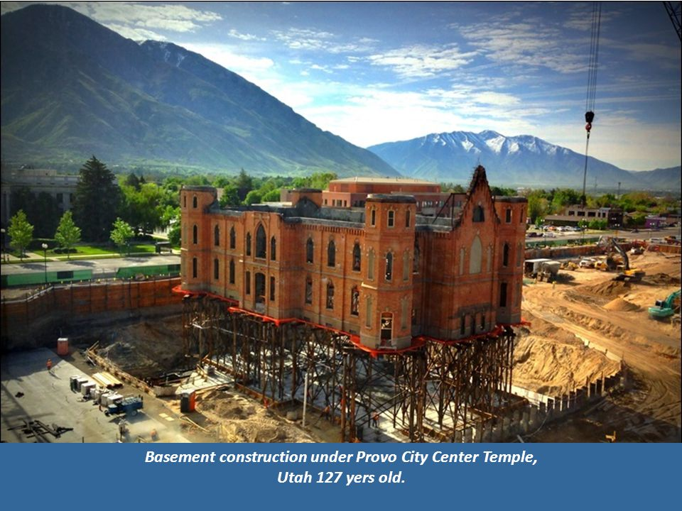 Basement construction under Provo City Center Temple, Utah 127 yers old.