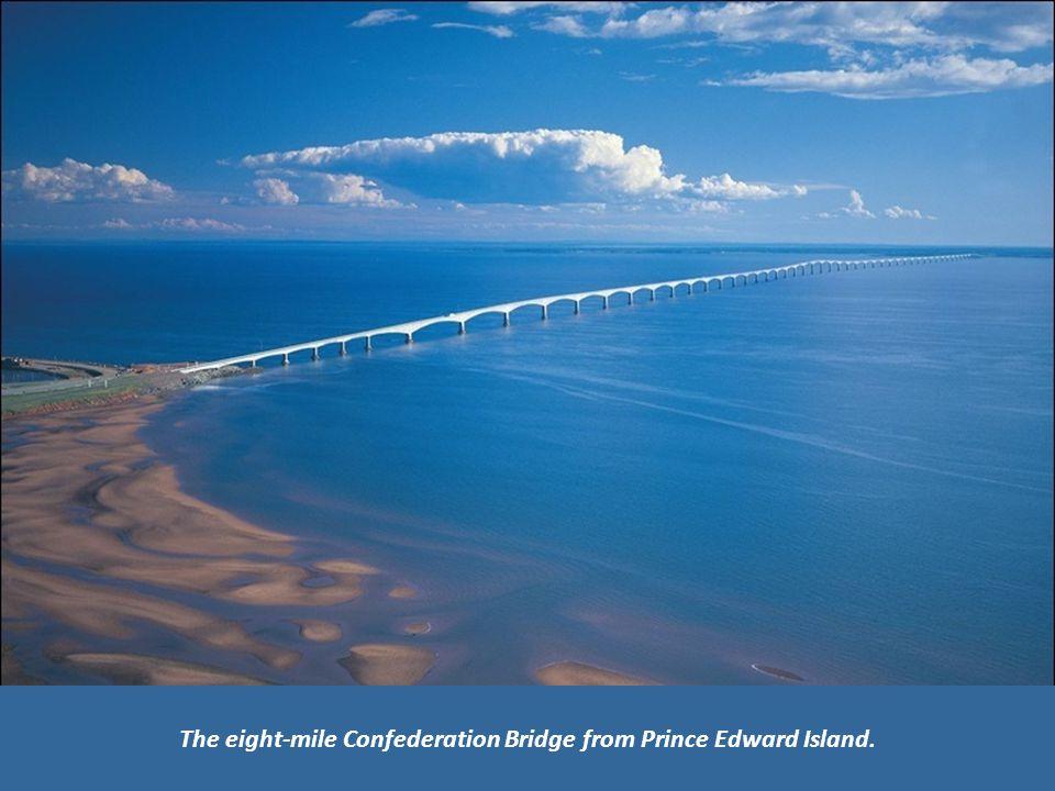 The eight-mile Confederation Bridge from Prince Edward Island.