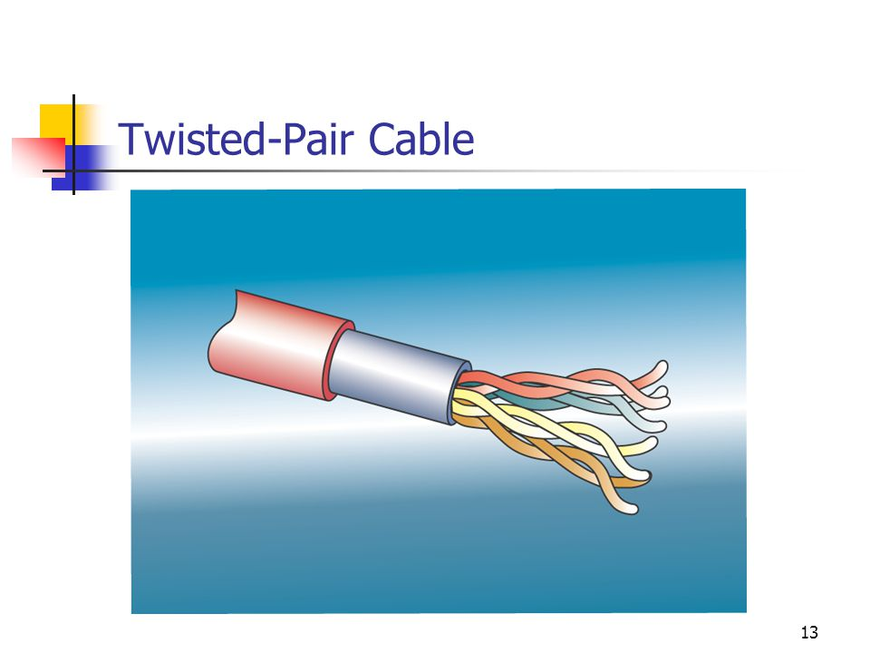 13 Twisted-Pair Cable