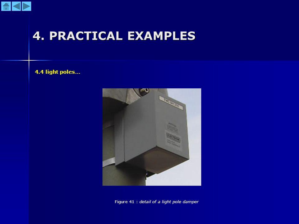 4. PRACTICAL EXAMPLES Figure 41 : detail of a light pole damper 4.4 light poles…