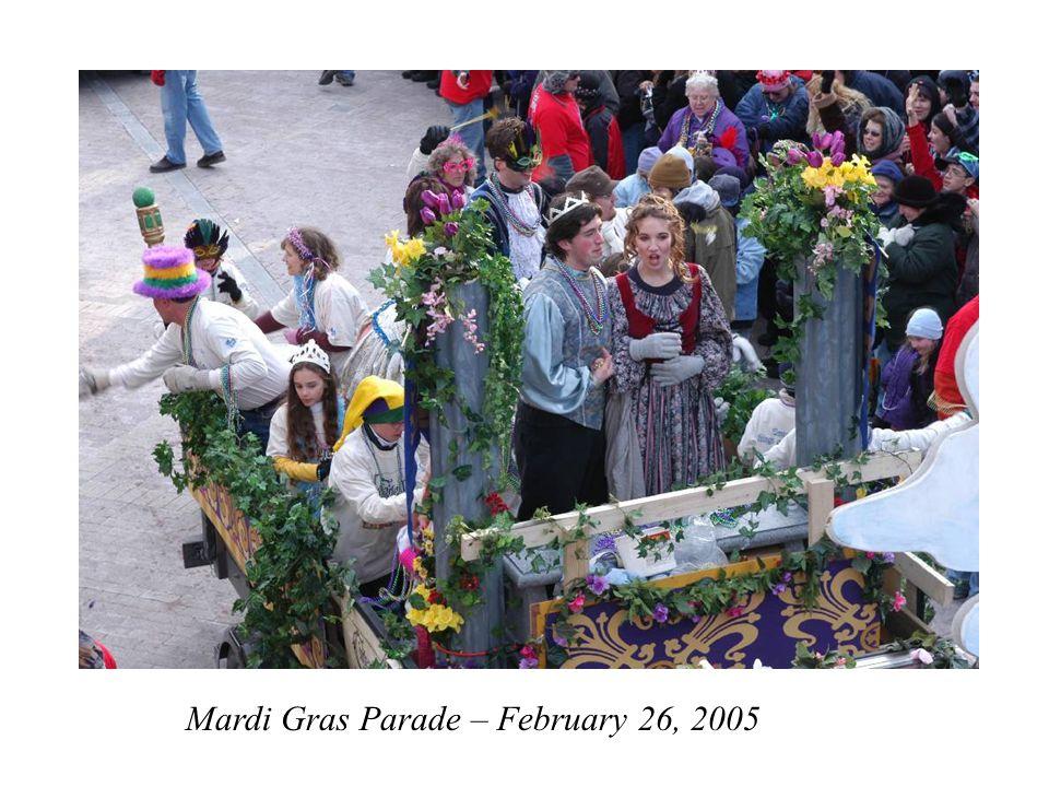 Mardi Gras Parade – February 26, 2005