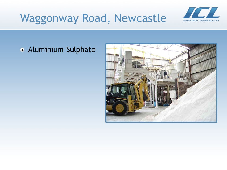 Waggonway Road, Newcastle Aluminium Sulphate