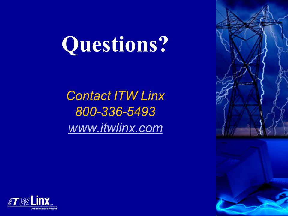 Questions Contact ITW Linx 800-336-5493 www.itwlinx.com