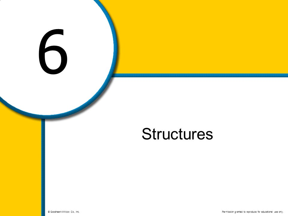 6 Structures © Goodheart-Willcox Co., Inc. Permission granted to reproduce for educational use only.