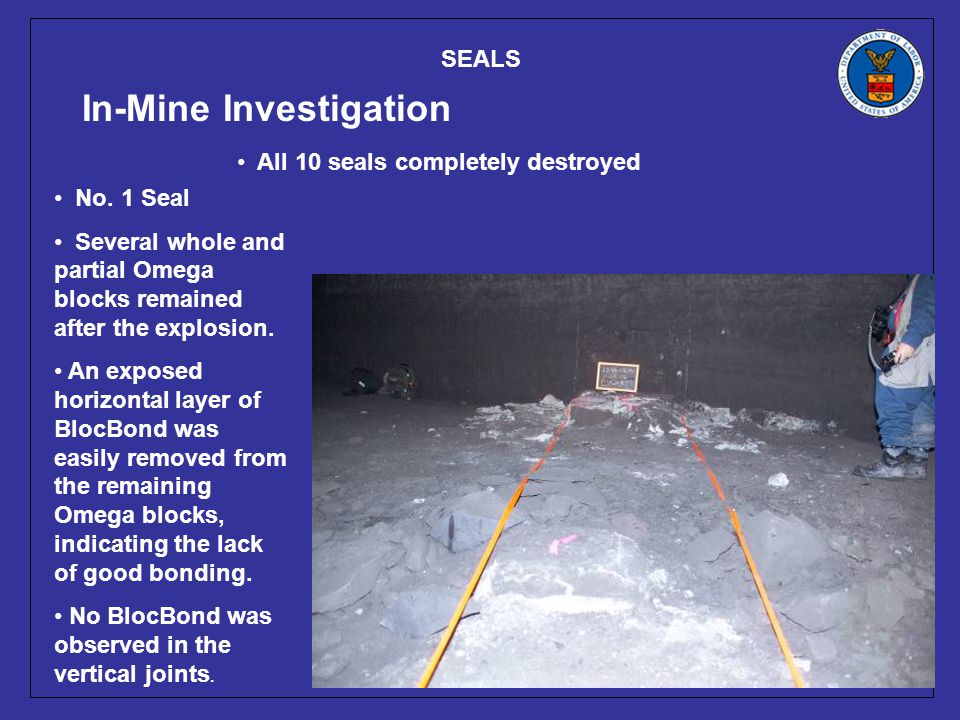 SEALS In-Mine Investigation No.