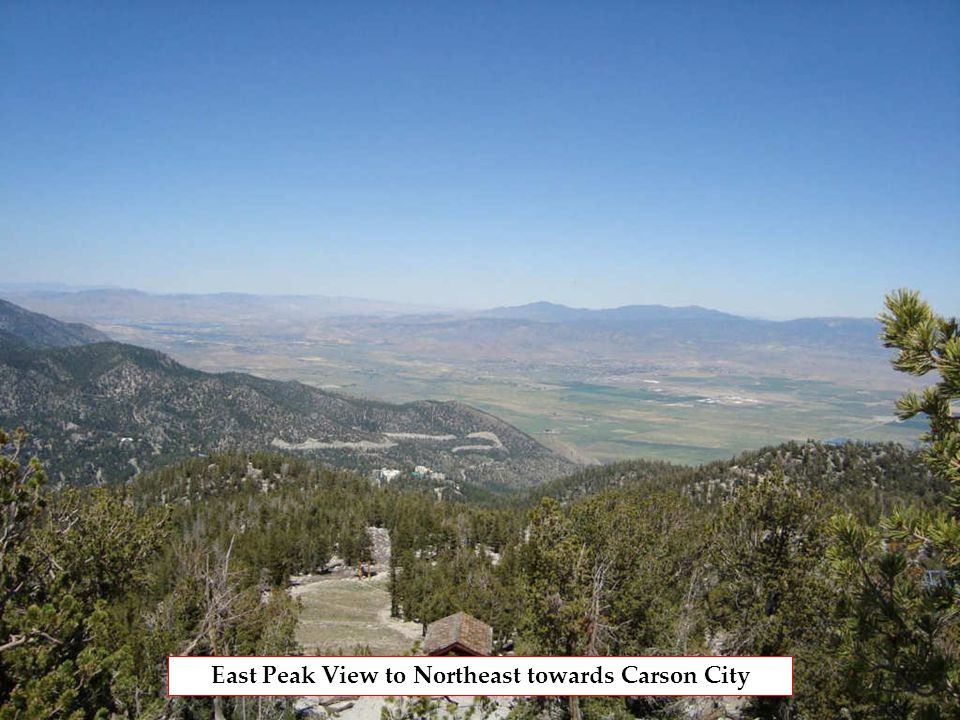 East Peak View to Northeast towards Carson City