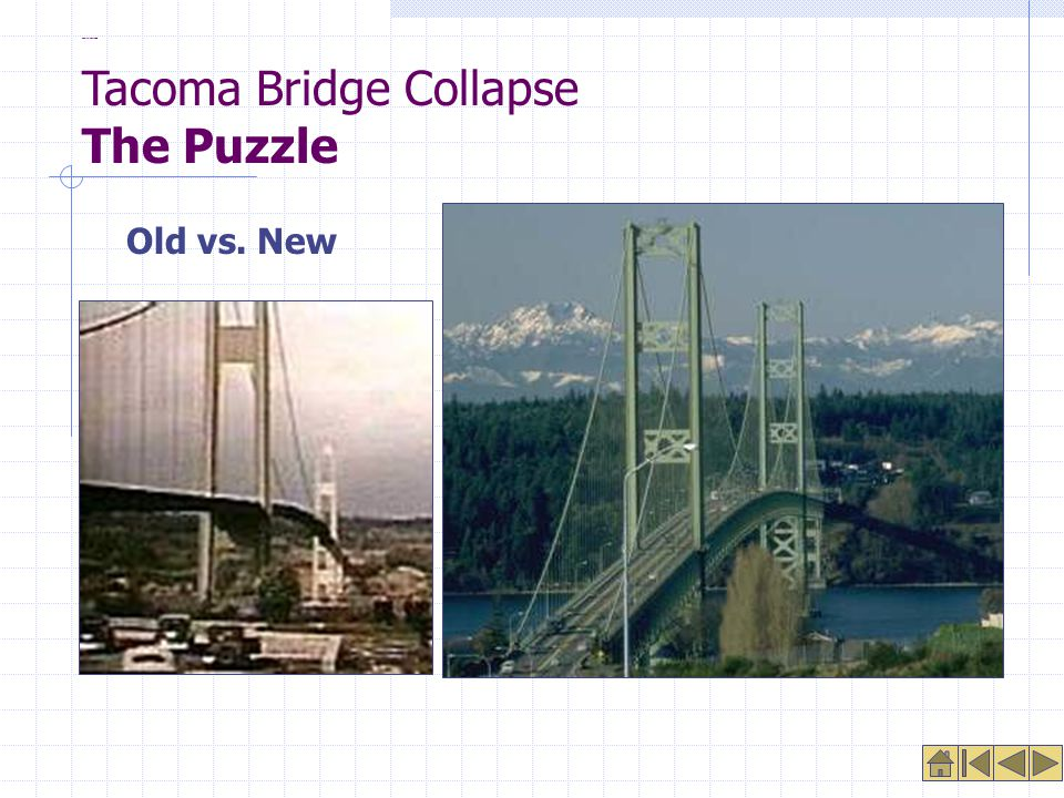 Comparison Photos Old vs. New Tacoma Bridge Collapse The Puzzle