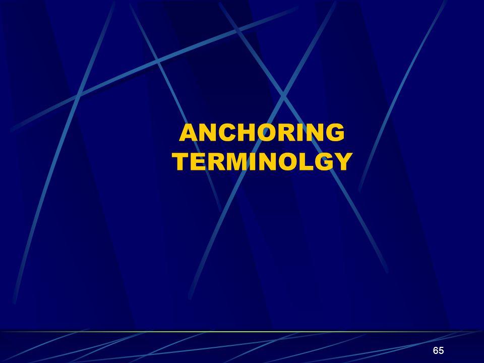 65 ANCHORING TERMINOLGY
