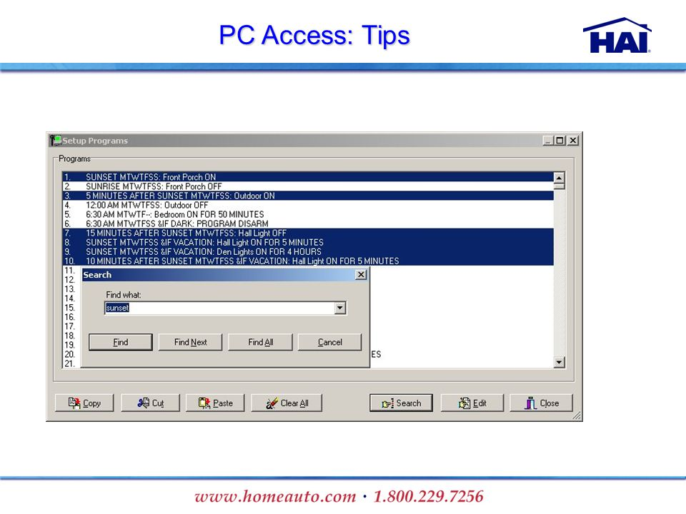 PC Access: Tips