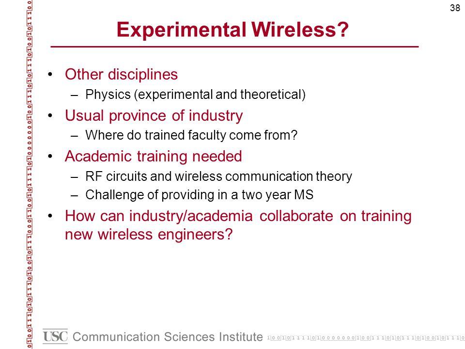 38 Experimental Wireless.