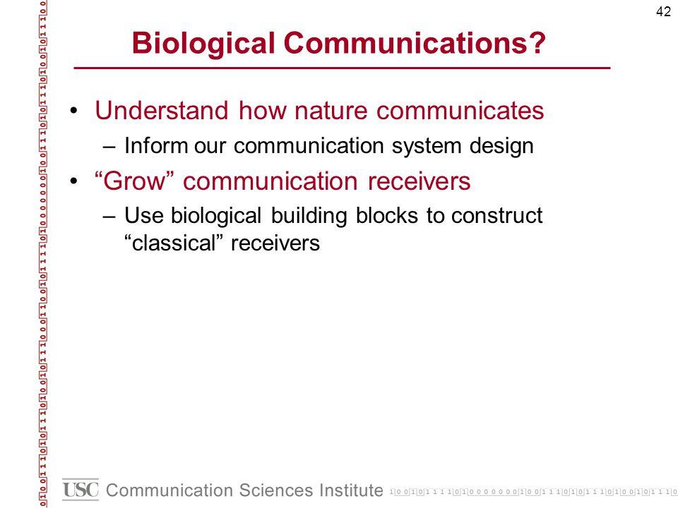 42 Biological Communications.