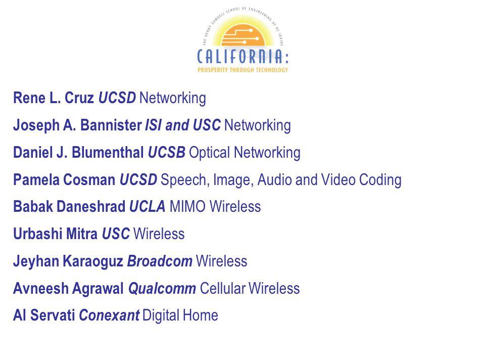Rene L. Cruz UCSD Networking Joseph A. Bannister ISI and USC Networking Daniel J.