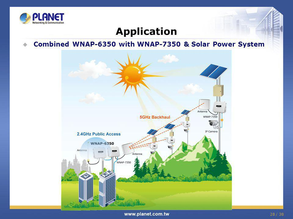 28 / 38 Application Combined WNAP-6350 with WNAP-7350 & Solar Power System
