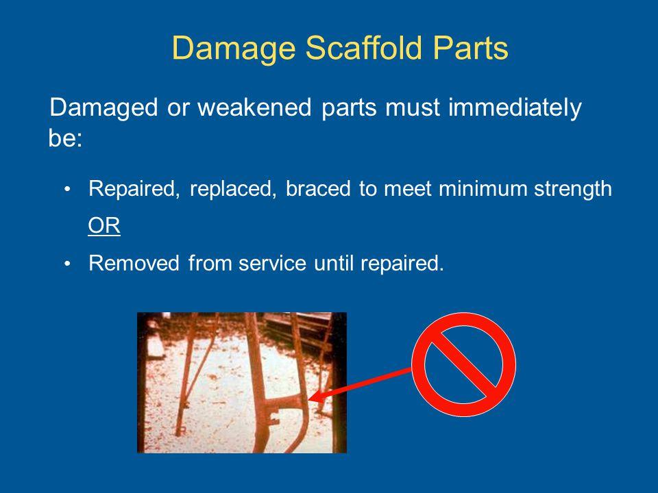 Unstable Footing Examples Cardboard, sticks, blocks, rocks or bricks arent a sound method of leveling