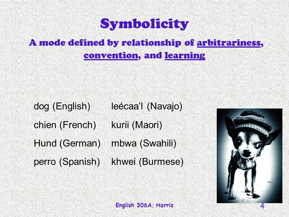 English 306A; Harris 3 Lexicalization