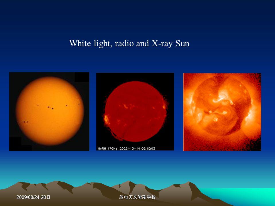 2009/08/24-28 White light, radio and X-ray Sun
