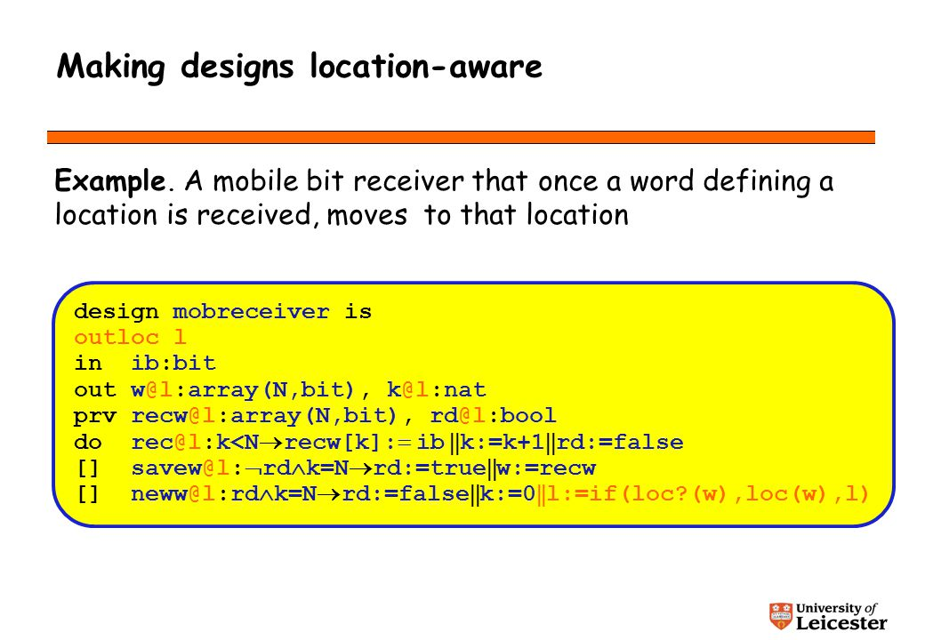 Making designs location-aware Example.