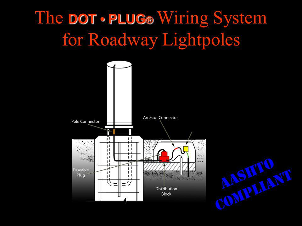 DOT PLUG ® The DOT PLUG ® Wiring System for Roadway Lightpoles AASHTO COMPLIANT