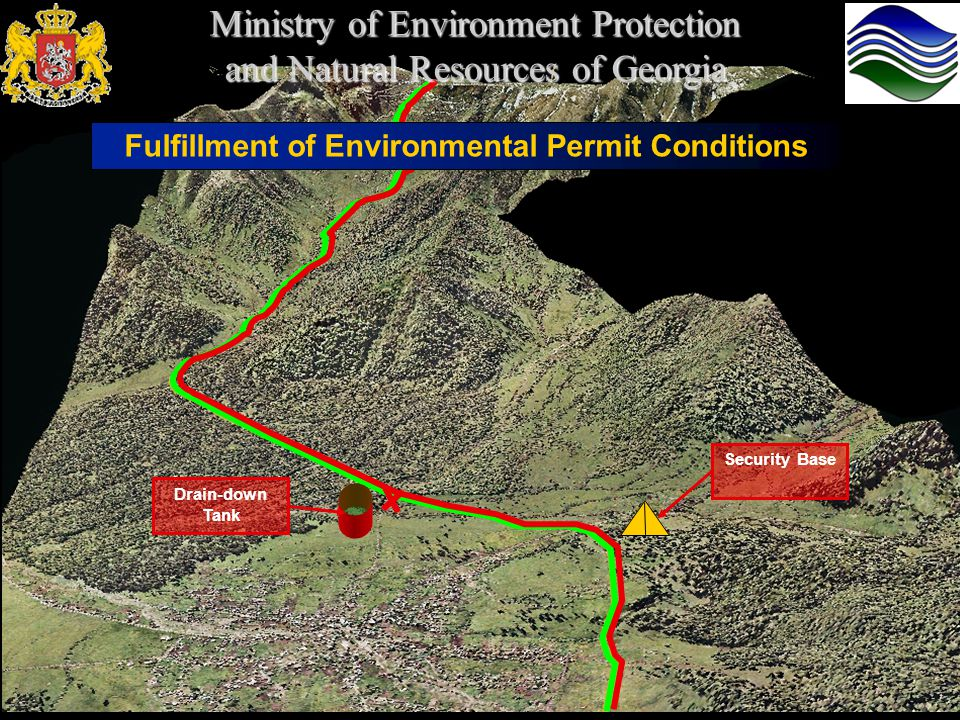 Fulfillment of Environmental Permit Conditions Ministry of Environment Protection and Natural Resources of Georgia Drain-down Tank Security Base
