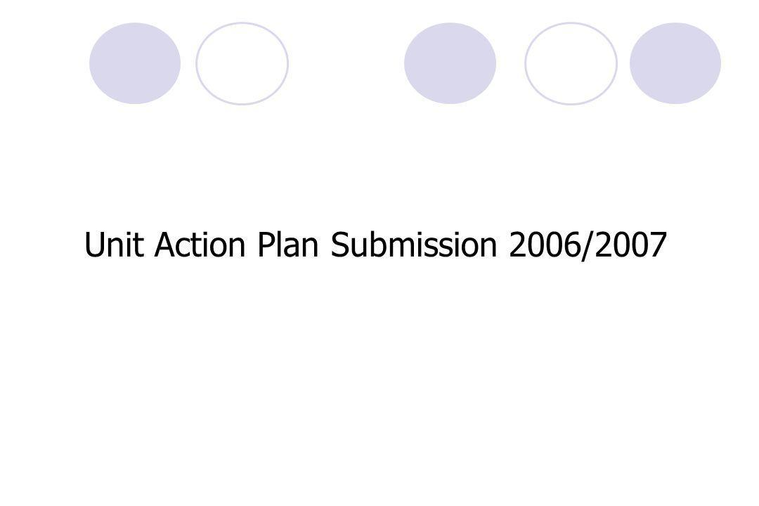 Unit Action Plan Submission 2006/2007