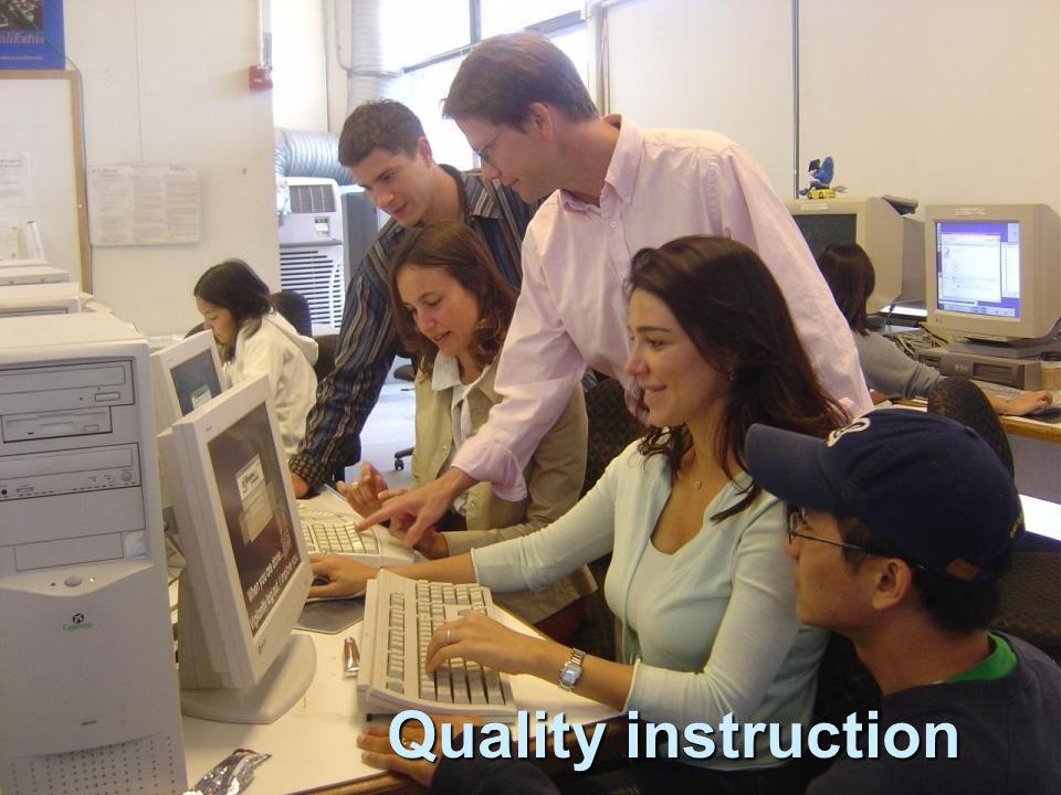 Quality instruction Quality instruction
