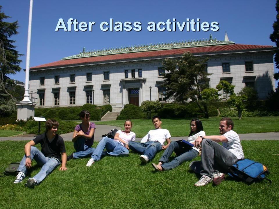 After class activities
