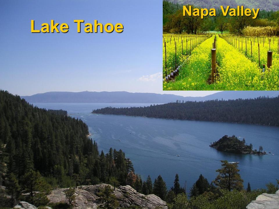 Lake Tahoe Napa Valley
