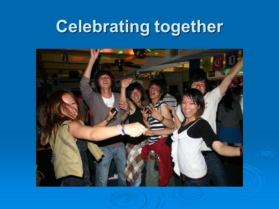 Celebrating together