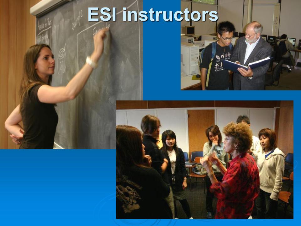 ESI instructors